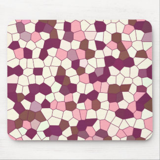Abstract Blueberry Cheesecake Plum Pink Mosaic Mouse Pad