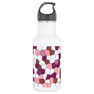 Abstract Blueberry Cheesecake Plum Pink Mosaic Stainless Steel Water Bottle