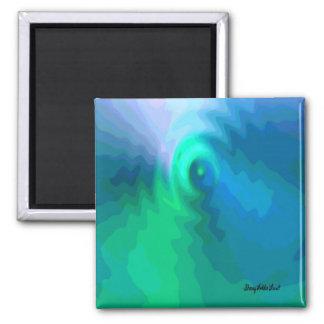 Abstract BlueGreen 002 Fridge Magnet