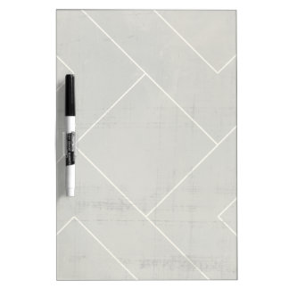 Abstract Blueprint with Geometric Shapes Dry Erase Board