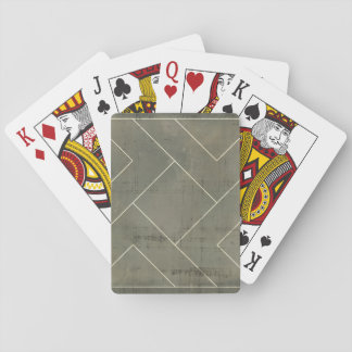 Abstract Blueprint with Geometric Shapes Playing Cards