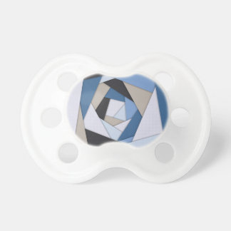 Abstract Blues Geometric Layers Pacifier