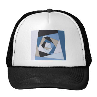 Abstract Blues Geometric Layers Trucker Hat