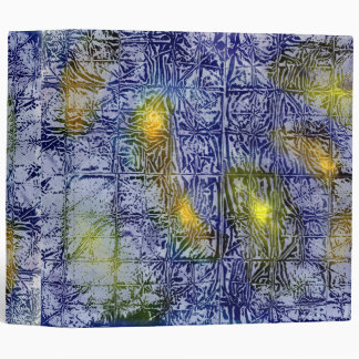 Abstract Blues with Light 3 Ring Binder
