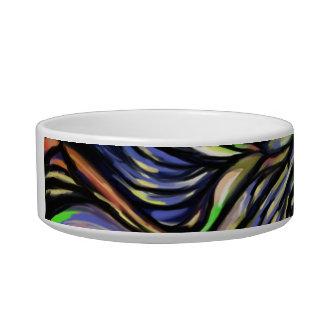 Abstract bluish tree bowl