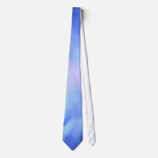 abstract bluish watercolor sea or sky tie