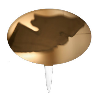 Abstract blur of brown tints cake topper