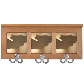 Abstract blur of brown tints coat rack