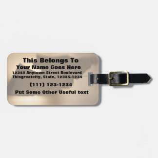 Abstract blur of brown tints tag for bags