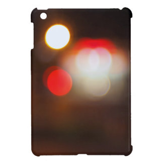 Abstract blurred image of circular lights on the n iPad mini cover