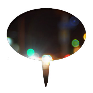 Abstract blurred image of lights and flare cake topper