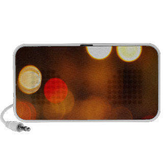 Abstract blurred image of round spots speaker