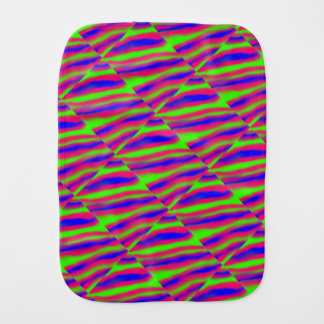 Abstract blurred stripes burp cloth