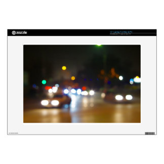 "Abstract blurry spots of light in the night city decals for 15"" laptops"