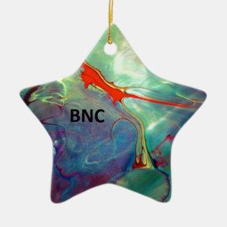 Abstract BNC Ceramic Ornament