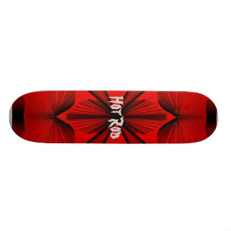Abstract Board Red, Hot Rod Skate Board