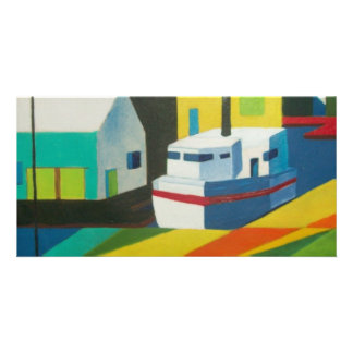 abstract boat 2 card