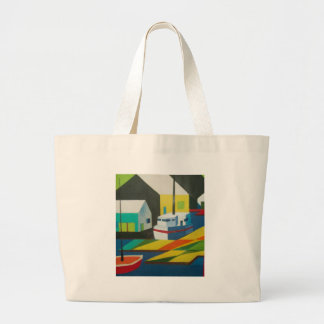abstract boat 2 tote bags