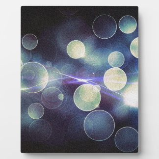 Abstract Bokeh - Green And Blue Lights Plaque