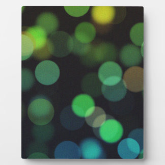 Abstract Bokeh - Green And YellowLights Plaque