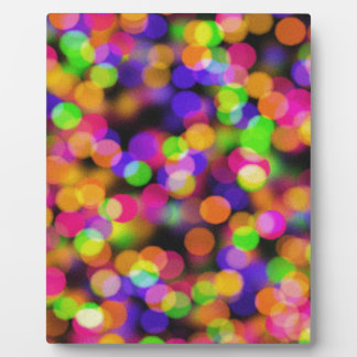 Abstract Bokeh - Pink, Green, Orange And Blue Ligh Plaque