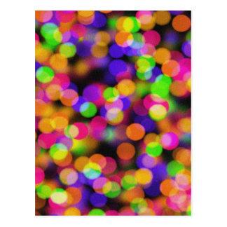 Abstract Bokeh - Pink, Green, Orange And Blue Ligh Postcard