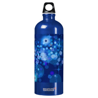Abstract Bokeh Stars Background ROYAL BLUE CIRCLES Water Bottle