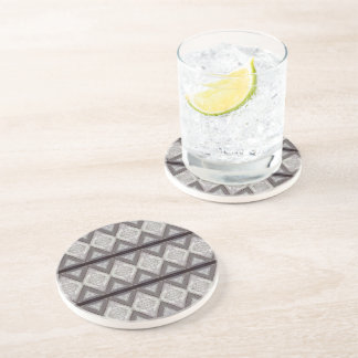 Abstract boring pattern coasters