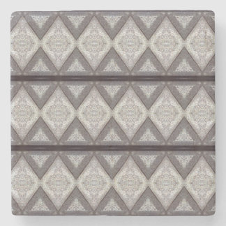 Abstract boring pattern stone beverage coaster