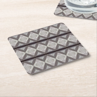 Abstract boring pattern square paper coaster