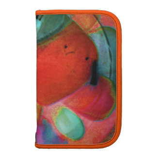 Abstract Boro Glass Warm Orange Planner Folio