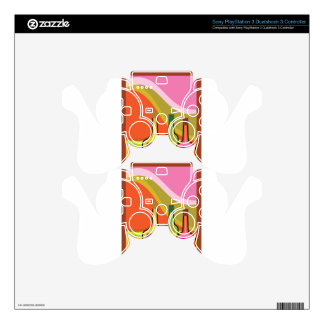 Abstract bottles and grapes PS3 controller skin