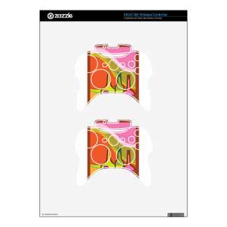 Abstract bottles and grapes xbox 360 controller decal