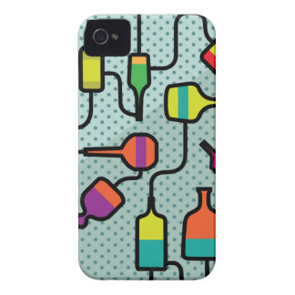 Abstract bottles iPhone 4 case