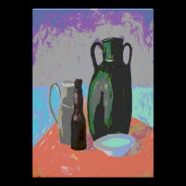 Abstract Bottles Still Life posters