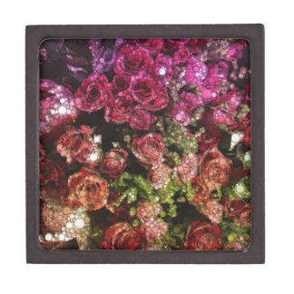 Abstract Bouquet of Flowers Jewelry Box