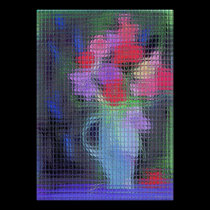 Abstract Bouquet Through Window posters