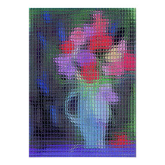 Abstract Bouquet Through Window Poster