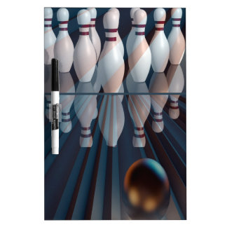 Abstract Bowling Dry-Erase Board