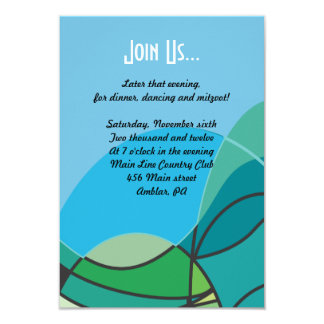 Abstract Boy with Tallis Bar Mitzvah Party card