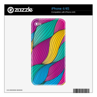 Abstract Braids Zazzle Skin Decal For The iPhone 4S