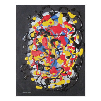 Abstract Brain Postcard
