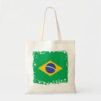 Abstract Brazil Flag, Brazilian Colors Tote Bag