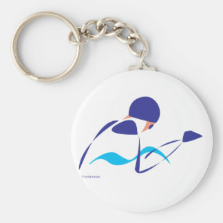 Abstract Breaststroke 1 Keychain