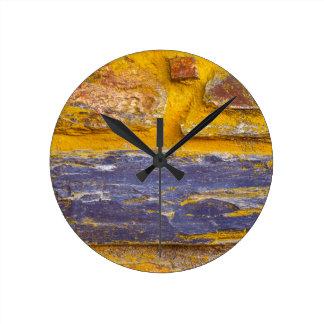 Abstract Bricks Round Clock