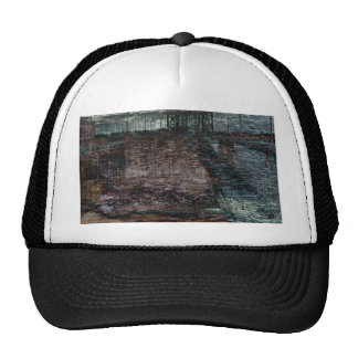 Abstract Bridge Destroyed End of Days Trucker Hat
