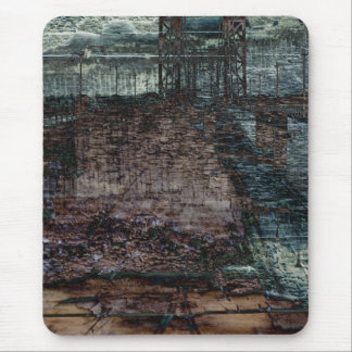 Abstract Bridge Destroyed End of Days Mouse Pad