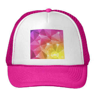 Abstract Bright Background Vector Illustration Trucker Hat