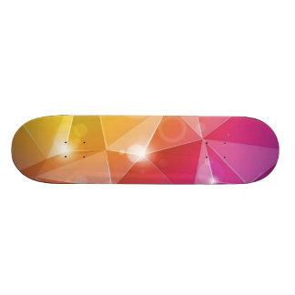 Abstract Bright Background Vector Illustration Custom Skateboard