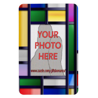 Abstract bright color Photo Frame Magnet